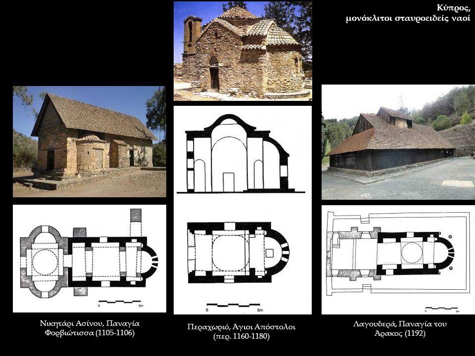 μονόκλιτοι σταυροειδείς ναοί