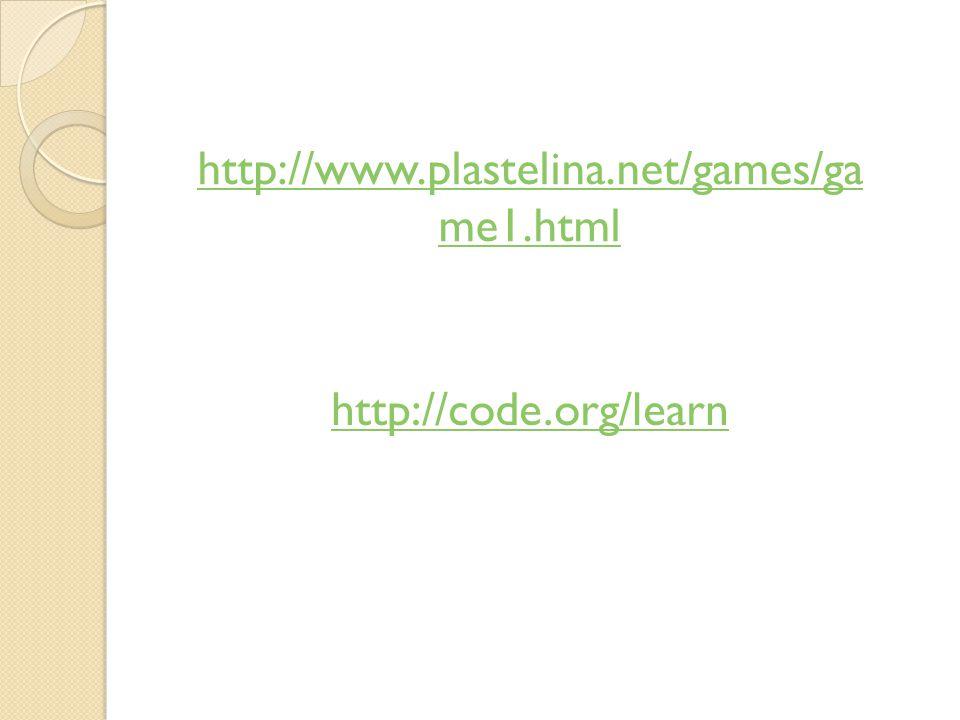 http://www.plastelina.net/games/game1.html http://code.org/learn
