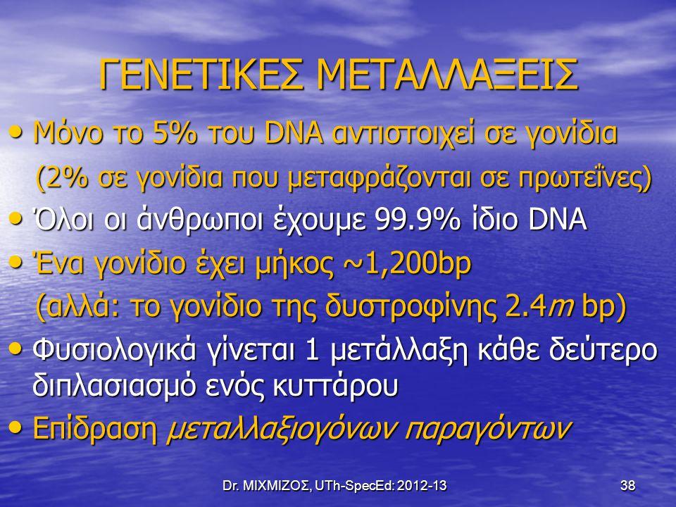 ΓΕΝΕΤΙΚΕΣ ΜΕΤΑΛΛΑΞΕΙΣ