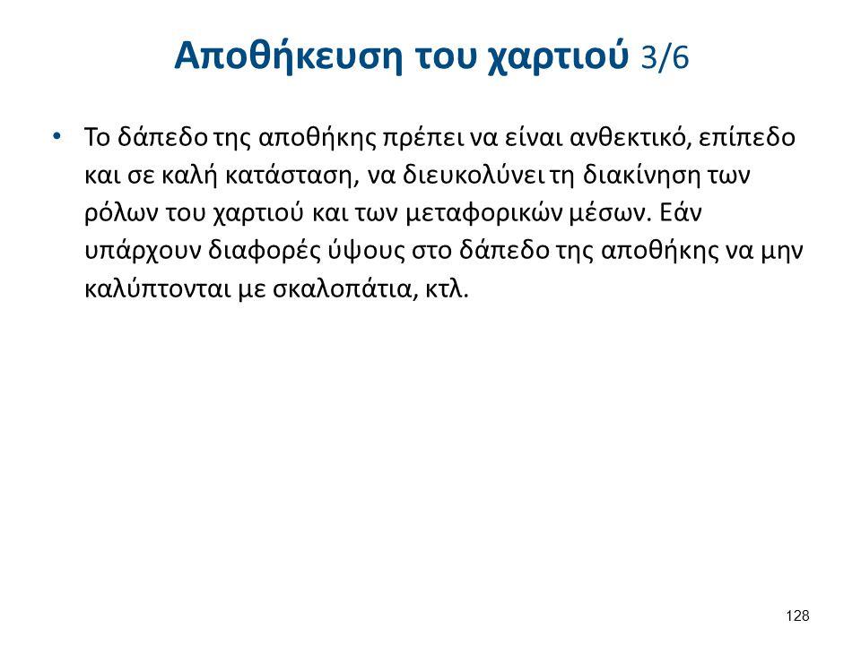 Αποθήκευση του χαρτιού 4/6