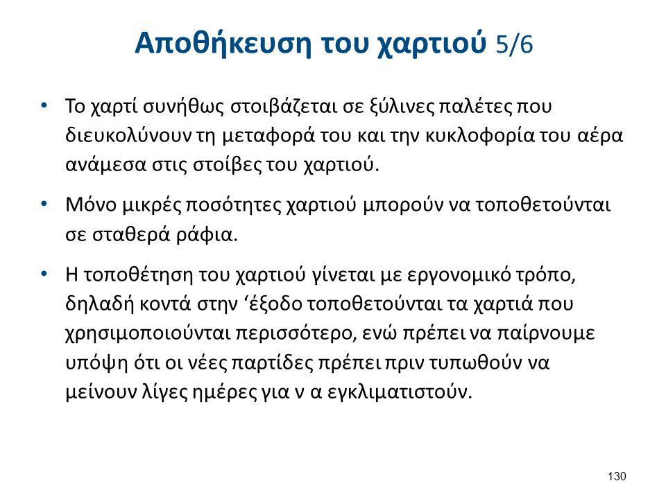 Αποθήκευση του χαρτιού 6/6