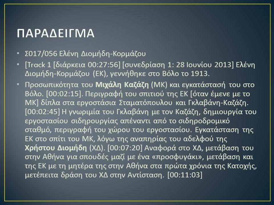 ΠΑΡΑΔΕΙΓΜΑ Σ017/056 Ελένη Διομήδη-Κορμάζου