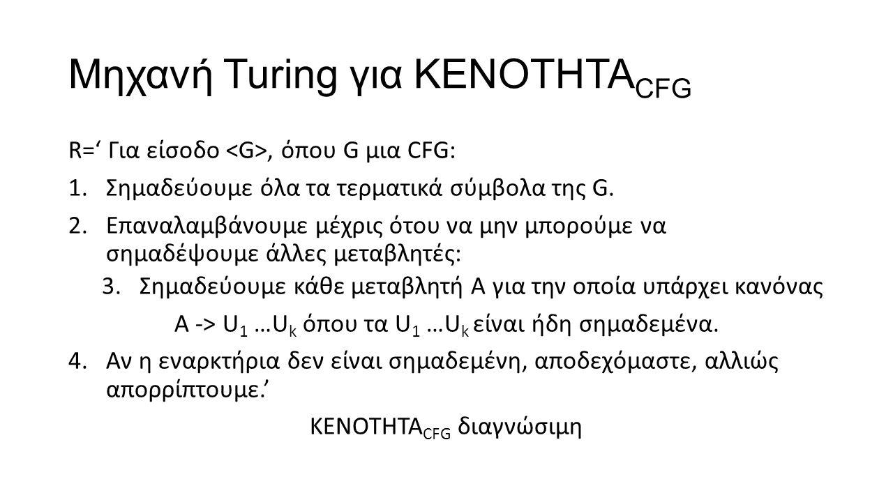 Μηχανή Turing για KENOTHTACFG
