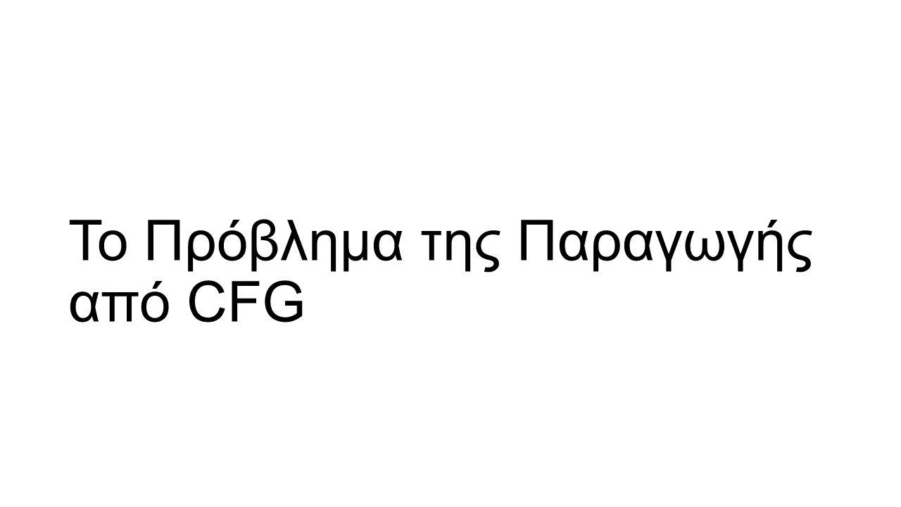 Το Πρόβλημα της Παραγωγής από CFG