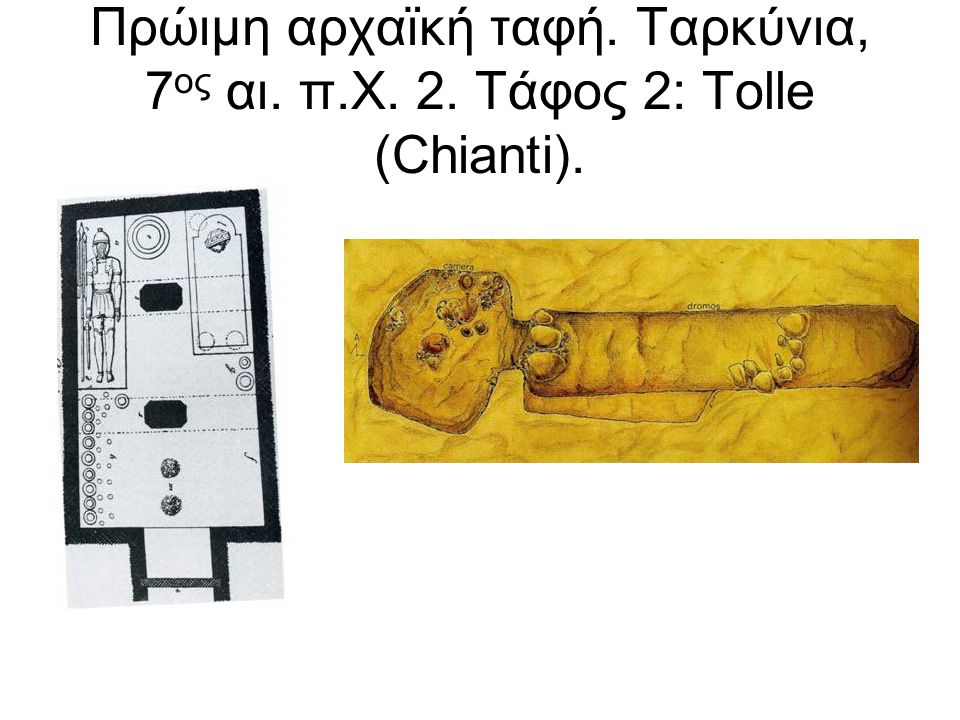 Πρώιμη αρχαϊκή ταφή. Ταρκύνια, 7ος αι. π. Χ. 2