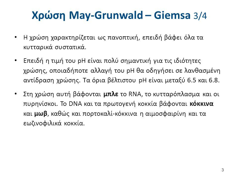 Χρώση May-Grunwald – Giemsa 4/4