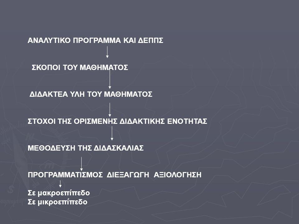 ΑΝΑΛΥΤΙΚΟ ΠΡΟΓΡΑΜΜΑ ΚΑΙ ΔΕΠΠΣ