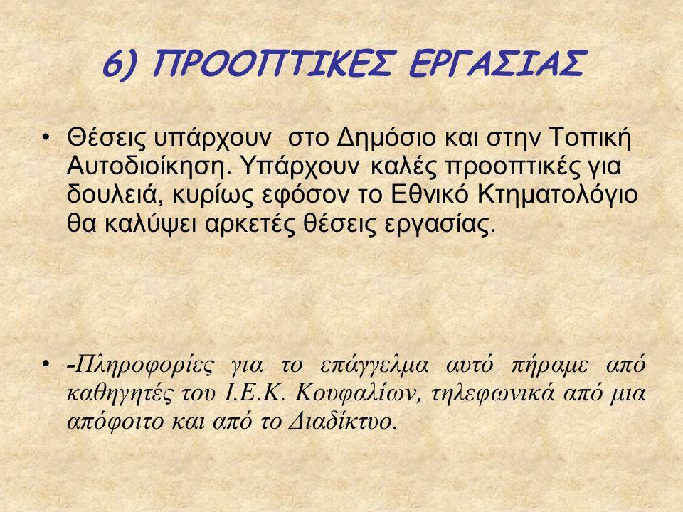 6) ΠΡΟΟΠΤΙΚΕΣ ΕΡΓΑΣΙΑΣ