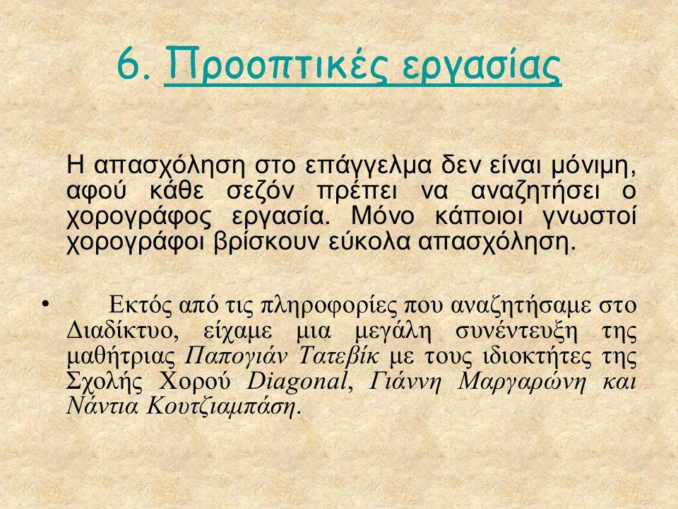 6. Προοπτικές εργασίας