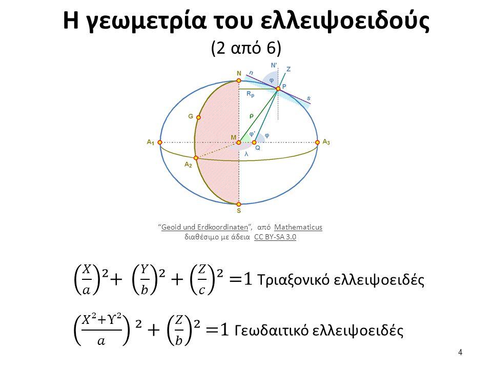 Η γεωμετρία του ελλειψοειδούς (3 από 6)