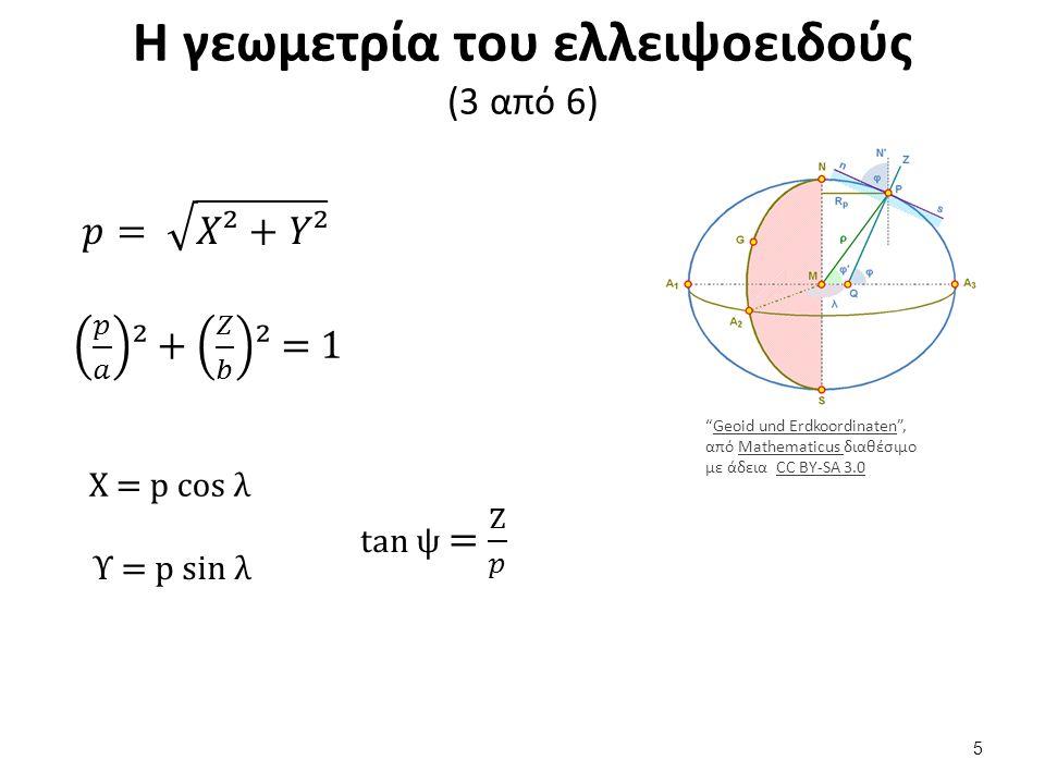 Η γεωμετρία του ελλειψοειδούς (4 από 6)