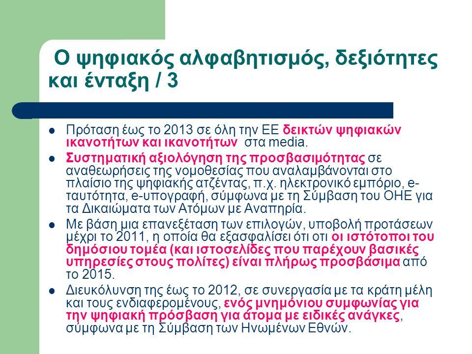 Ο ψηφιακός αλφαβητισμός, δεξιότητες και ένταξη / 3