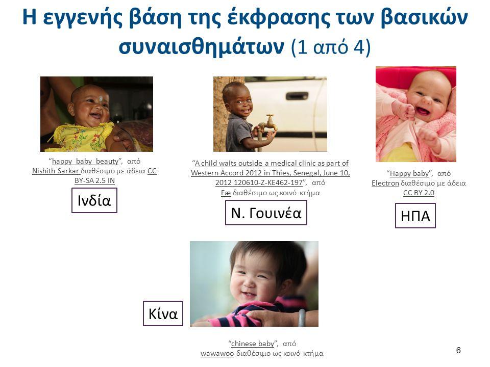 Η εγγενής βάση της έκφρασης των βασικών συναισθημάτων (2 από 4)