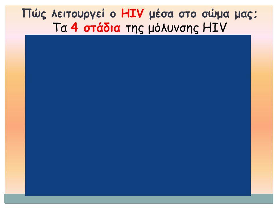 Πώς λειτουργεί ο HIV μέσα στο σώμα μας; Tα 4 στάδια της μόλυνσης HIV