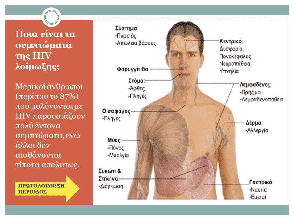 Ποια είναι τα συμπτώματα της HIV λοίμωξης;