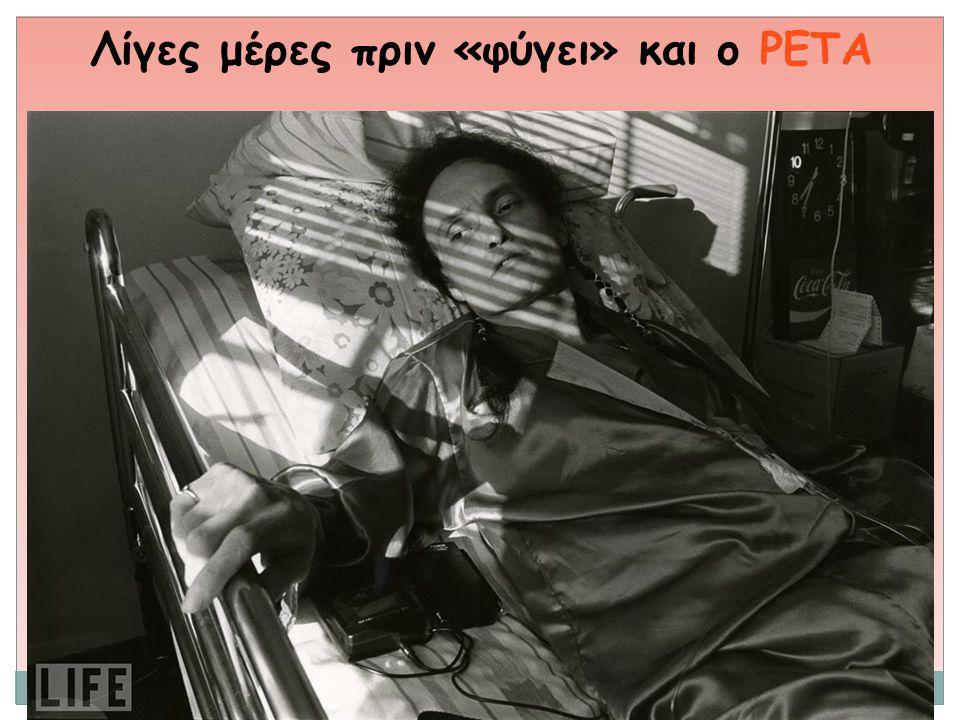 Λίγες μέρες πριν «φύγει» και ο PETA