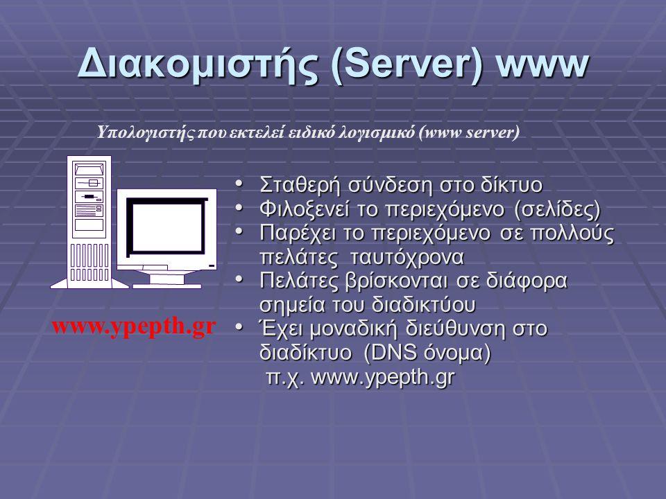 Διακομιστής (Server) www