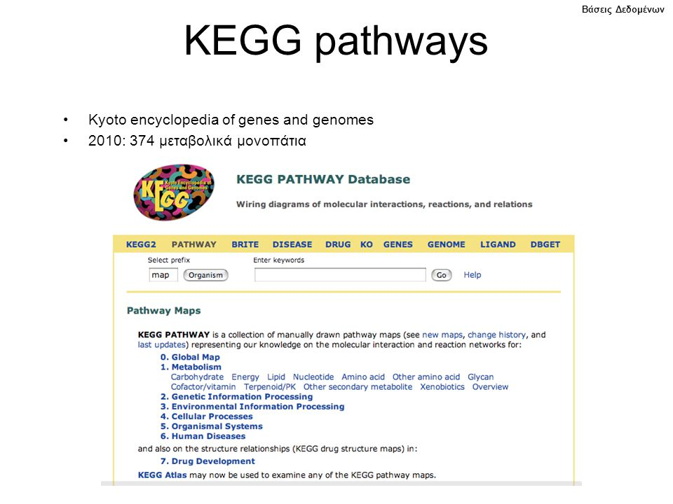 KEGG pathways Kyoto encyclopedia of genes and genomes