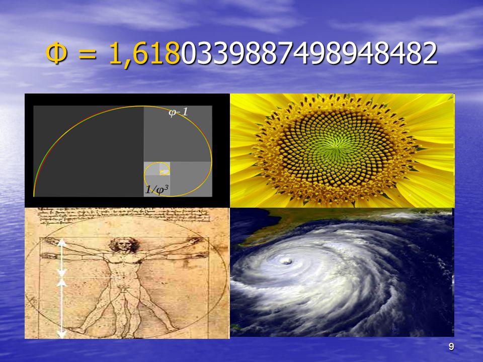 Φ = 1,6180339887498948482