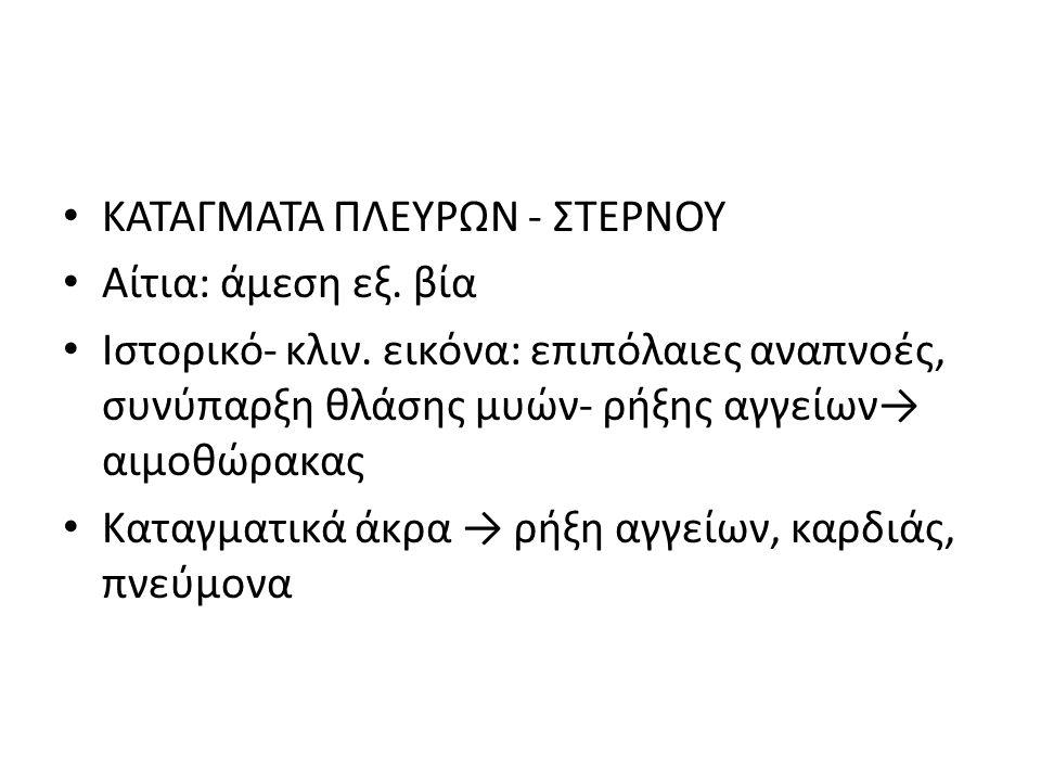 ΚΑΤΑΓΜΑΤΑ ΠΛΕΥΡΩΝ - ΣΤΕΡΝΟΥ