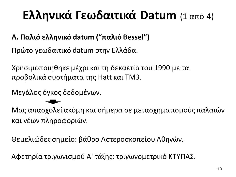 Ελληνικά Γεωδαιτικά Datum (2 από 4)