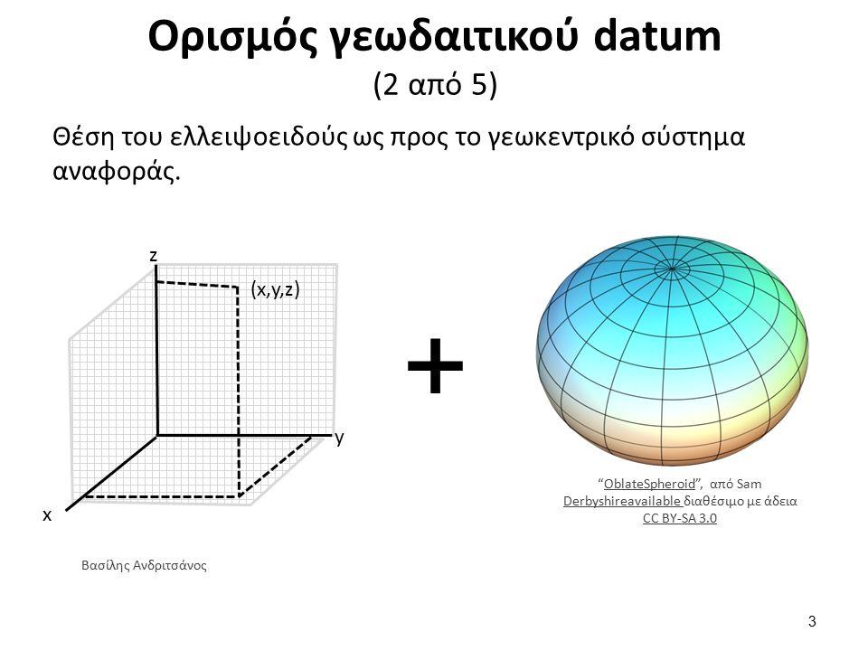 Ορισμός γεωδαιτικού datum (3 από 5)