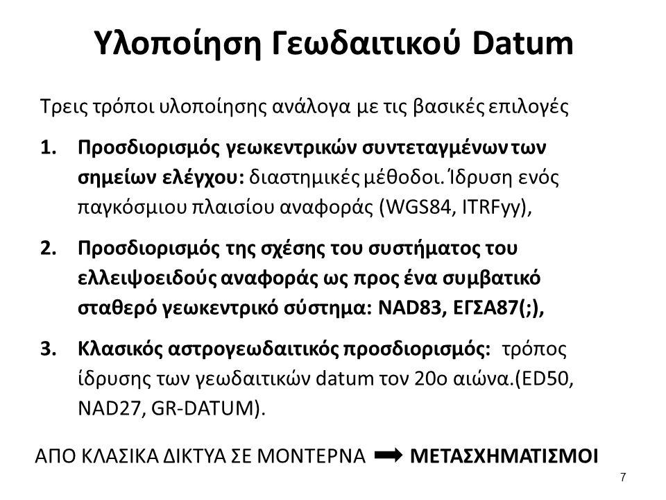 Ίδρυση Τοπικού Γεωδαιτικού Datum (1 από 2)