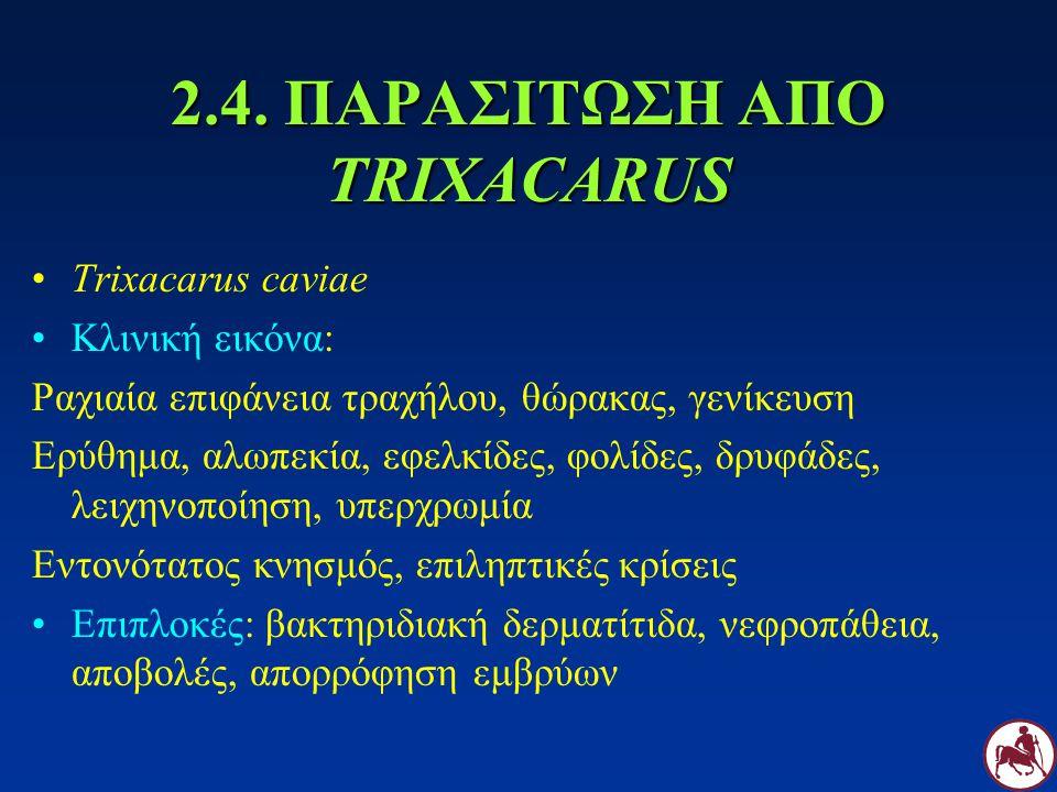2.4. ΠΑΡΑΣΙΤΩΣΗ ΑΠΟ TRIXACARUS