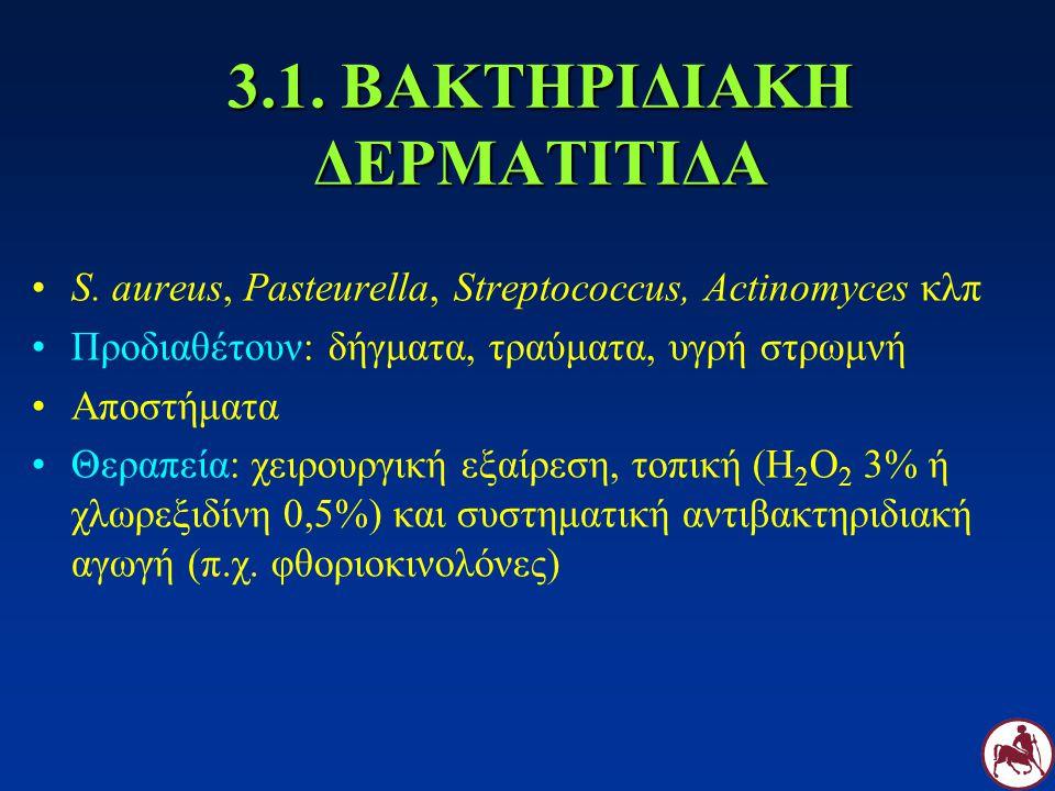 3.1. ΒΑΚΤΗΡΙΔΙΑΚΗ ΔΕΡΜΑΤΙΤΙΔΑ