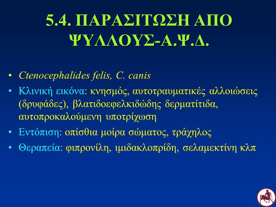 5.4. ΠΑΡΑΣΙΤΩΣΗ ΑΠΟ ΨΥΛΛΟΥΣ-Α.Ψ.Δ.