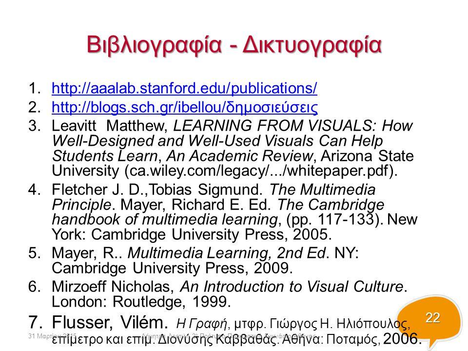 Βιβλιογραφία - Δικτυογραφία
