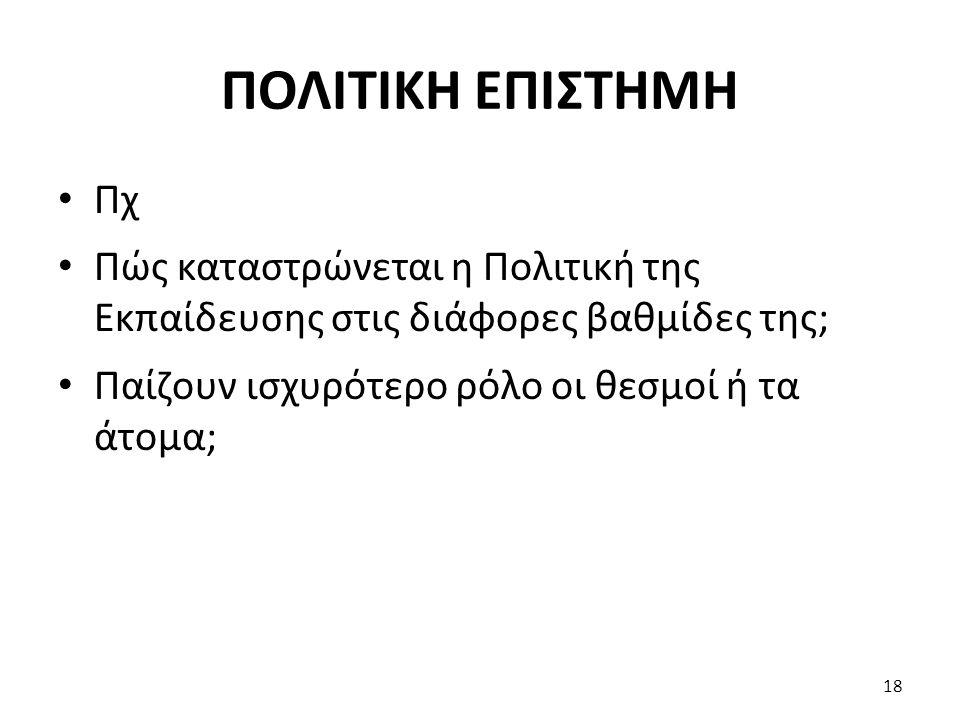ΠΟΛΙΤΙΚΗ ΕΠΙΣΤΗΜΗ Πχ.