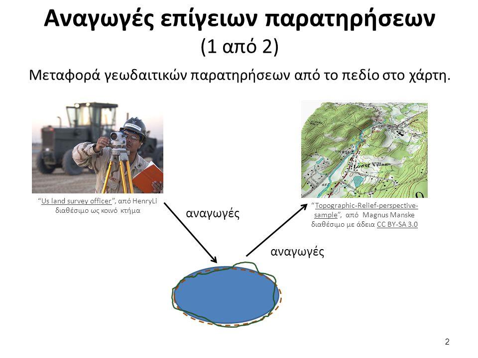 Αναγωγές επίγειων παρατηρήσεων (2 από 2)