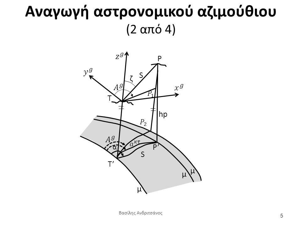 Αναγωγή αστρονομικού αζιμούθιου (3 από 4)