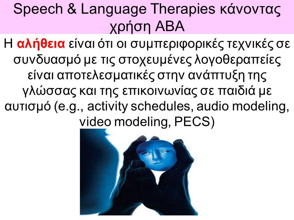 Speech & Language Therapies κάνοντας χρήση ΑBΑ