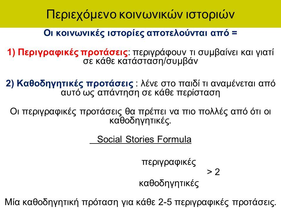 Περιεχόμενο κοινωνικών ιστοριών