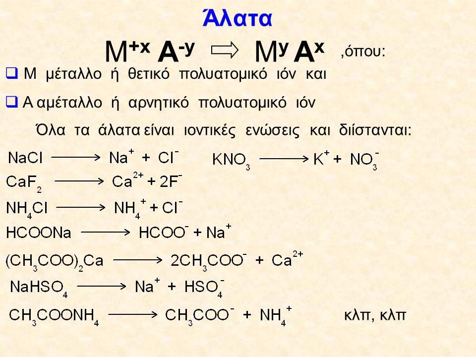 Όλα τα άλατα είναι ιοντικές ενώσεις και διίστανται: