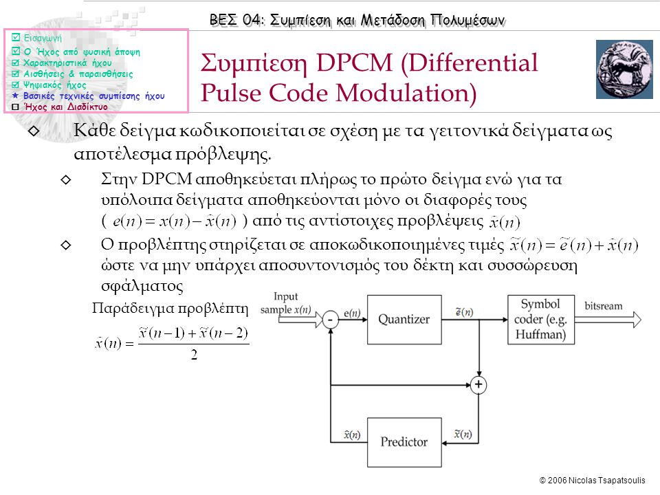 Συμπίεση DPCM (Differential Pulse Code Modulation)