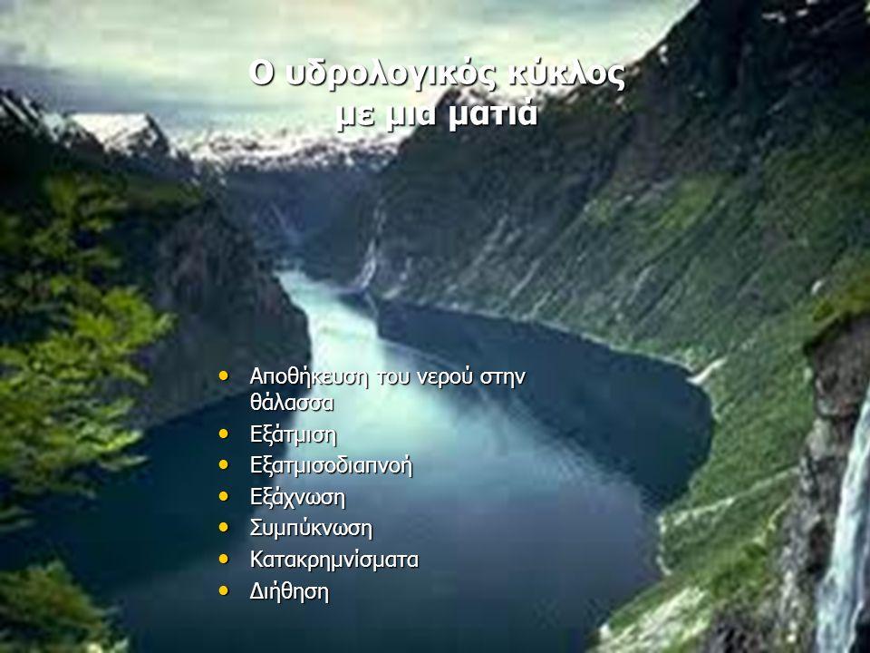 Ο υδρολογικός κύκλος με μια ματιά