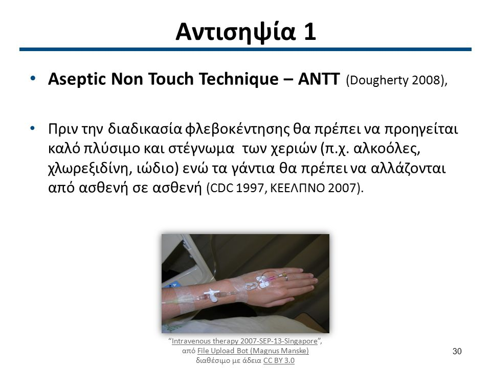 Aseptic Non Touch Technique ΑΝΤΤ