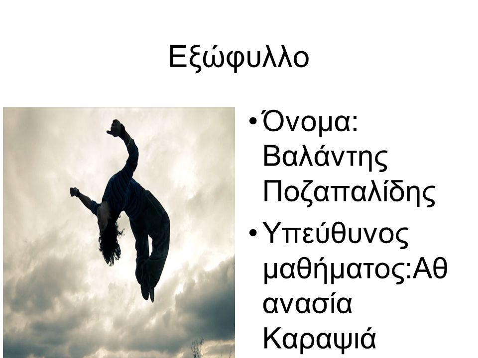 Εξώφυλλο Όνομα: Βαλάντης Ποζαπαλίδης