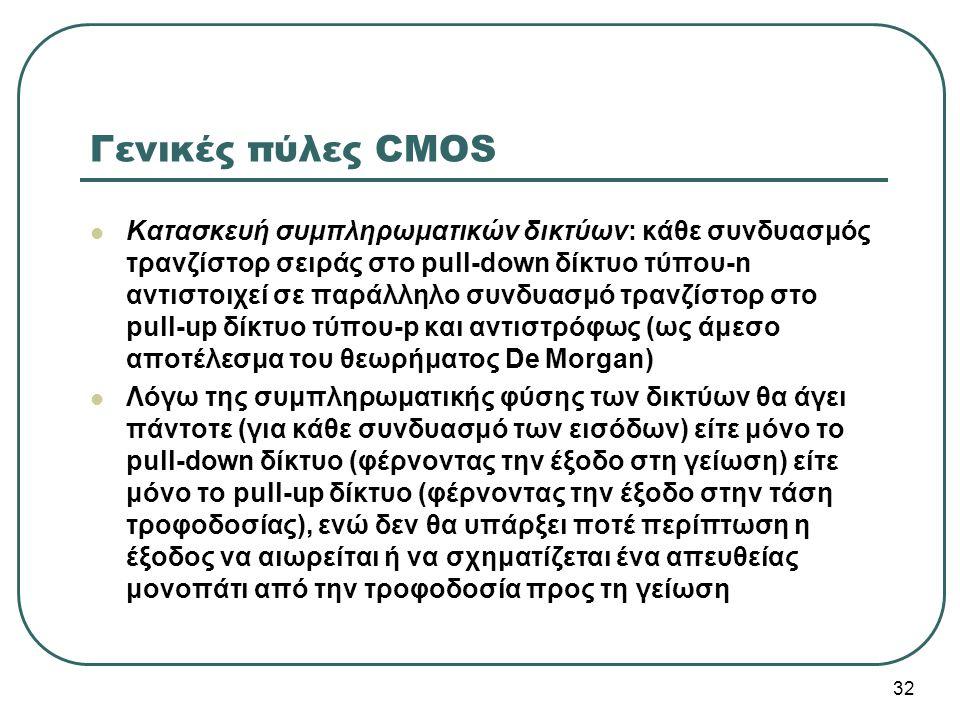 Γενικές πύλες CMOS
