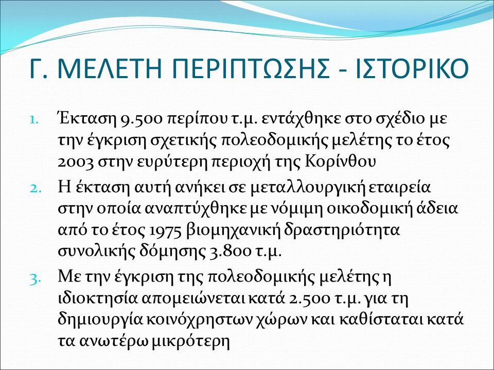 Γ. ΜΕΛΕΤΗ ΠΕΡΙΠΤΩΣΗΣ - ΙΣΤΟΡΙΚΟ