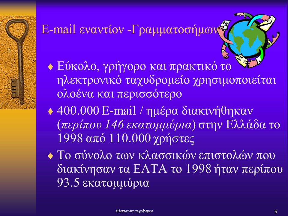 E-mail εναντίoν -Γραμματοσήμων