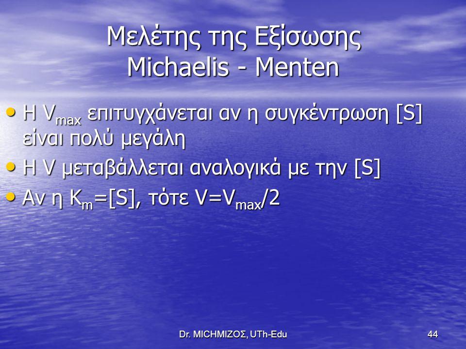 Μελέτης της Εξίσωσης Michaelis - Menten