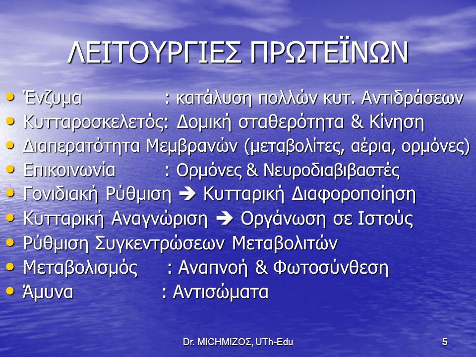 ΛΕΙΤΟΥΡΓΙΕΣ ΠΡΩΤΕΪΝΩΝ