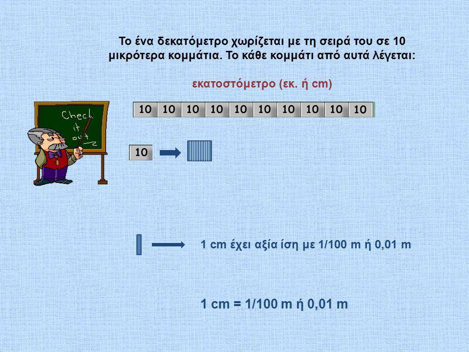 εκατοστόμετρο (εκ. ή cm)
