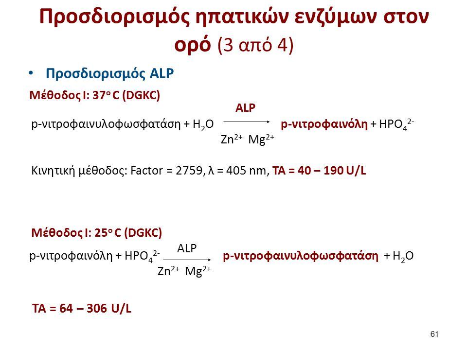Προσδιορισμός ηπατικών ενζύμων στον ορό (4 από 4)