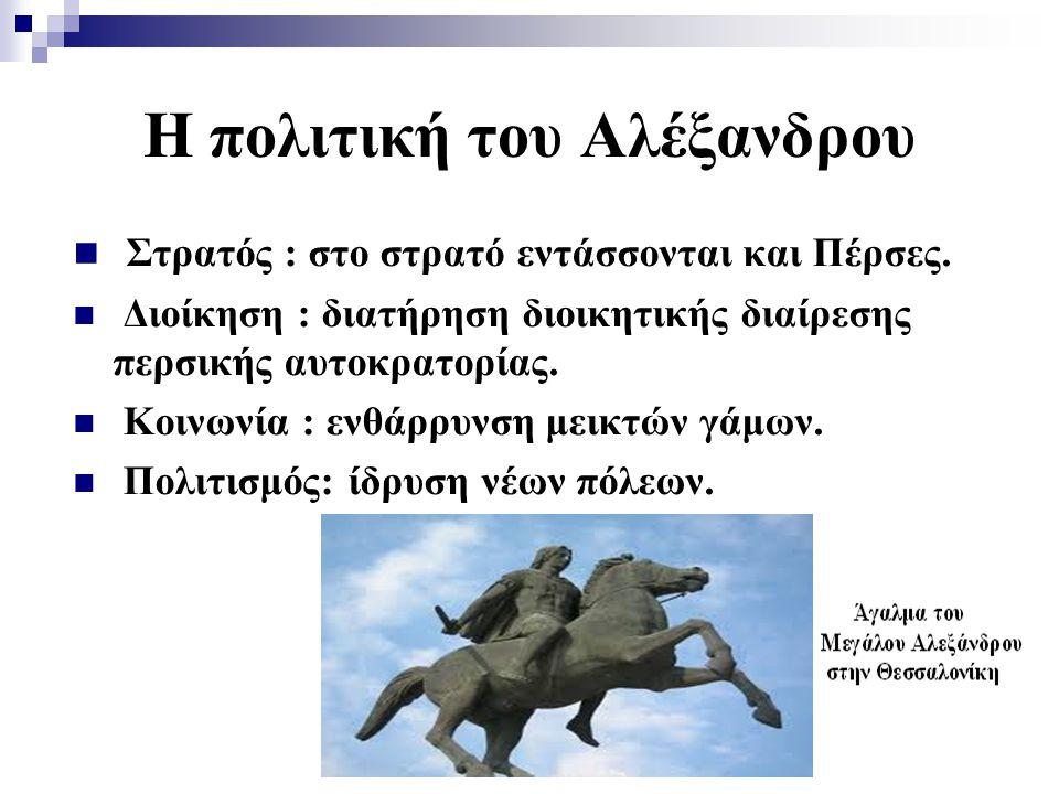Η πολιτική του Αλέξανδρου