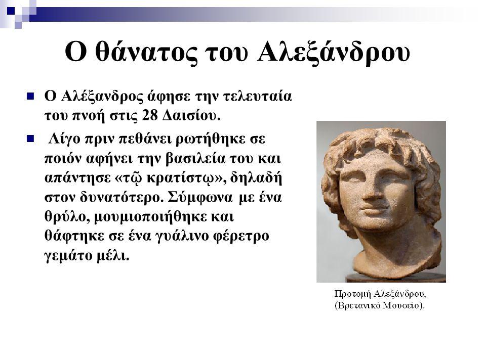 Ο θάνατος του Αλεξάνδρου